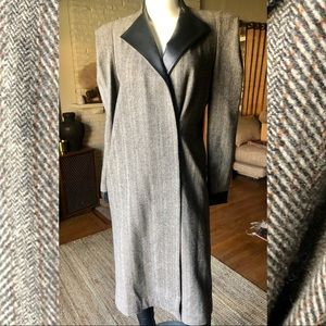 Thomas Wylde Cashmere/ Wool/ leather long coat